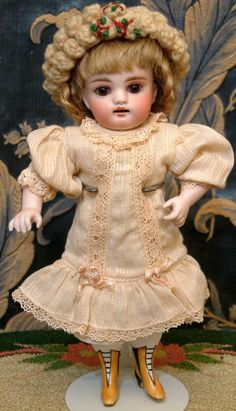 "8.5"" All Bisque WRESTLER Antique Kestner Doll ca 1890"