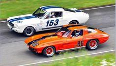 60's Race-Spec Mustang VS Race-Spec Stingray in 70's Trans AM race