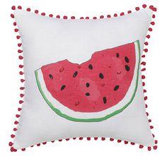 Logan and Mason Watermelon Pink Square Cushion Down Pillows, Throw Pillows, Down Quilt, Cute Cushions, Juicy Fruit, Mattress Protector, Quilt Cover Sets, Soft Furnishings, Sheet Sets