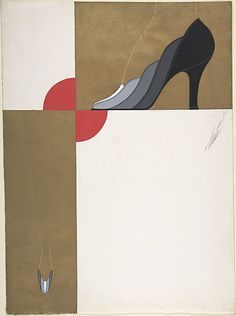 Shoe Design for Delman's Shoes, New York, 1934.  Erté (Romain de Tirtoff)  (French (born Russia), St. Petersburg 1892–1990 Paris)