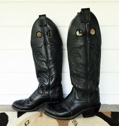 olathe pull on black riding boots by shopLOVECRAFTvintage