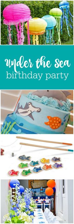 Under the sea birthday party ideas by The Party Teacher | http://thepartyteacher.com/2013/07/29/ask-jennifer-jellyfish-first-birthday-party-ideas/