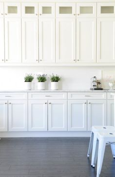 Lots of cabinets: http://www.stylemepretty.com/living/2014/08/01/15-ways-to-organize-your-pantry/