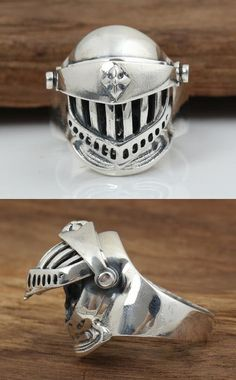 Sterling Silver Helmet Ring 8-10.5