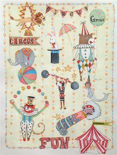 Circus Performers  Clown Fun  A4/A3 excentrique par LouiseThrop