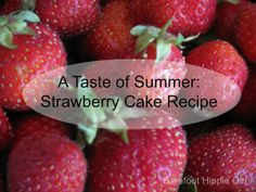 Strawberry Cake Recipe...