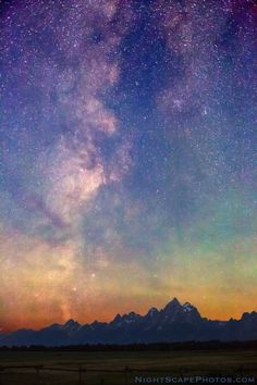 "drxgonfly: "" Milky Way Dawn over Tetons (by Royce's NightScapes) """