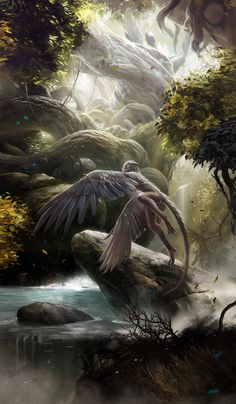 The Guadian by albino-Z on deviantART | Creature Design Inspiration |…