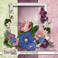 One Page Wonders #71 in purple and green. $1.97 by #BooLand Designs #theStudio #digiscrap