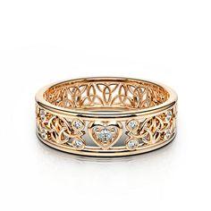 Rose Gold Diamond Ring - Gemify Eternal Celtic Heart Love Band