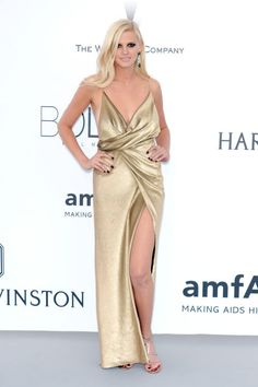Lara Stone. See what all the stars wore at the Cannes amfAR gala.