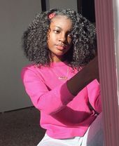 Best Picture For girls natural hairstyles short For Your Taste You are looking for something, and it Girls Natural Hairstyles, Black Girls Hairstyles, African Hairstyles, Hairstyles With Bangs, Hairstyles Videos, Hairstyles Men, Dark Skin Beauty, Hair Beauty, Curly Hair Styles