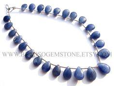 Blue Sapphire Pear Smooth Beads Quality A 5x7.5 to 7x10 #bluesapphire #bluesapphirebeads #bluesapphirebead #bluesapphirepear #pearbeads #beadswholesaler #semipreciousstone #gemstonebeads #beadsogemstone #beadwork #beadstore #bead
