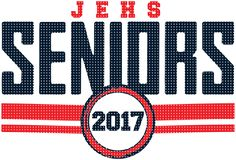 Seniors 2017 T-Shirt Design - USA Vintage (clas-965u9) - Class of 2017 t-shirts