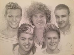 Draw of one direction One Direction Drawings, Cool Drawings, Projects To Try, Sketchbook Ideas, Couple Photos, Minecraft, Painting, Art, Couple Shots