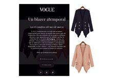 VOGUE recomienda nuestra blazer Muler como compra del mes de Marzo