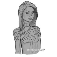 "rachelhanke27:  "" This started off as a random warm up sketch but at some point it turned into Feyre! May or may not render this one up… Who would you like to see next?  @littleredrunningshoes  """