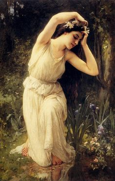 FRENCH PAINTERS: Charles-Amable LENOIR A Nymph in the Forest