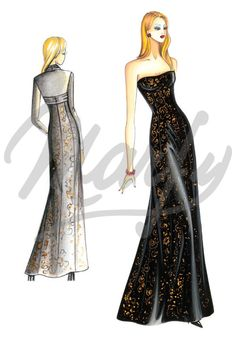 Model 2946 | Sewing Pattern Evening Gowns