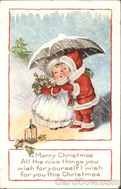 A Merry Christmas with Children in the Snow