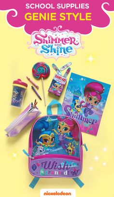 School supplies genie style! This colorful Shimmer and Shine backpack is the perfect mix of cute and functional and is the perfect size for your preschooler to bring on any magical adventure. Fill it up with Shimmer and Shine school supplies, accessories and Band-Aids.