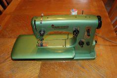 vintage green viking machine