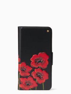 poppy folio iPhone 7 plus case | Kate Spade New York