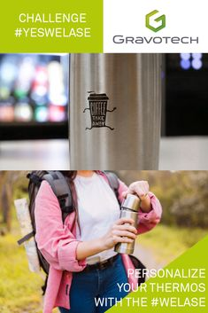 Avoid single-use items: personalize your thermos with ! Laser Engraving, Challenges, Bottle, Flask, Jars