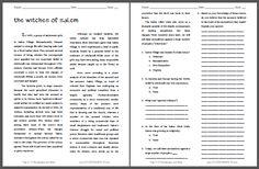 Salem Witch Trials Worksheet - Worksheets