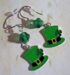 Irish St Patricks Day Inspired Enamel Leprechaun by SweetieBeads, $5.00