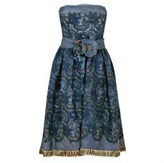 1950's Pierre Balmain Metallic Embroidered Organza Party Dress at ...