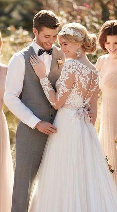 2dc43ba304 39 Button Back Wedding Dresses That Impress