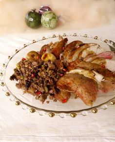 γεμιστή γαλοπούλα με κιμά και ρόδι Beef, Chicken, Christmas, Food, Meat, Xmas, Weihnachten, Yule, Ox