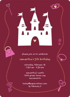Princess' Birthday Invitation