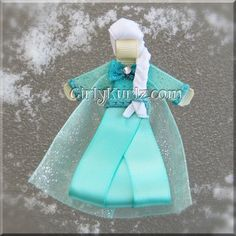 Frozen's Elsa The Ice Queen Ribbon Sculpture Hair Clip by Girlykurlz.com ❤️