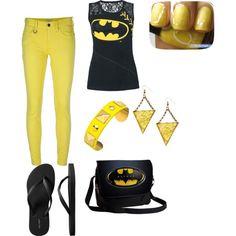 """Batman top"" by tmlittlemiller on Polyvore"