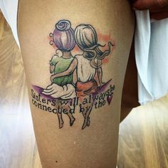 30 Superb Sister Tattoos - Matching Ideas, Colors, Symbols