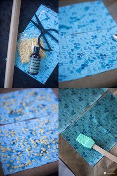 Make DIY oilcloths yourself - reusable cling film replacement - DIY . - Make DIY oilcloths yourself – reusable cling film replacement – DIY oilcloths make yourself – - Diy Jewelry Unique, Diy Jewelry To Sell, Diy Jewelry Holder, Diy Jewelry Making, Diy Crafts To Sell, Diy Wax, Diy Jewelry Inspiration, Diy Organization, Easy Diy