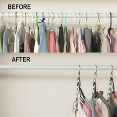 17 Ideas Clothes Closet Organisation Space Saving Hangers For 2019 Maximize Closet Space, Small Closet Space, Ideas Armario, Space Saving Hangers, Small Closet Organization, Clothes Storage Without A Closet, Storing Clothes, Small Closet Storage, Bedroom Organization