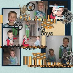 Kit: Trucks and Tractors by B2N2 Scraps  Template: Our Life in a Year- July by AKDesigns