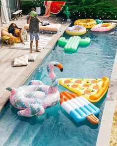 The more pool floats, the better the party. That's just how it works. #UOHome