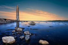 Larne Harbour. On the East Antrim Coastline Northern Ireland.