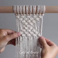Square Knot Pattern Who else is mesmerized by reform fibers' macrame? Trust The Process // Rainbow Macrame Wall Hanging bridal shower Macrame Design, Macrame Art, Macrame Projects, Macrame Wall Hanging Patterns, Macrame Patterns, Triangle Pattern, Triangle Square, Plant Hanger, Knots