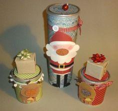 Contenitori (pringles) natalizi - 1
