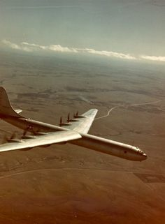 """The gigantic & real Convair XB-36 """"Peacemaker"""" super-bomber was the largest bomber ever built by anybody. 300 or so in fact, they were never actually used in combat. Defensive armament of 8 twin retracting 20mm gun-turrets & payload of 40 tons in twin massive bays."""