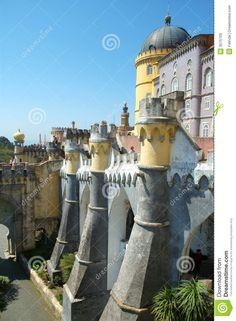 Palacio Da Pena, Sintra, Portugal Royalty Free Stock Images ...