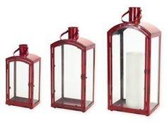Metal and glass Christmas lanterns