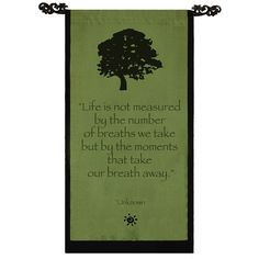 Handmade Cotton Tree of Life Design Unknown Quote Scroll (Indonesia), Green, Size 32 x 16 (Wood)