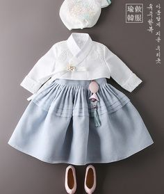 Different Skirt design Cute Girl Dresses, Little Girl Dresses, Vintage Baby Dresses, Korean Traditional Dress, Traditional Dresses, Cute Kids Fashion, Girl Fashion, Modern Hanbok, Baby Girl Hair Accessories