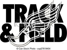 Clipart Vector of track field design with distressed track foot csp27619454 - Search Clip Art, Illustration, Drawings and Vector EPS Graphics Images